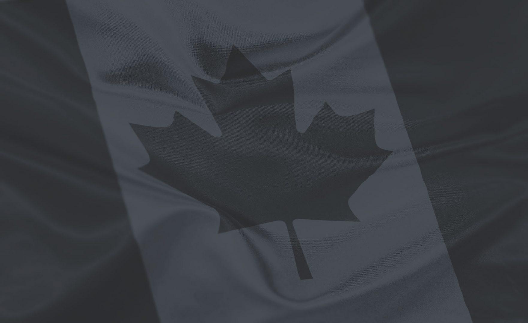 Canadian Flag Dark Duotone