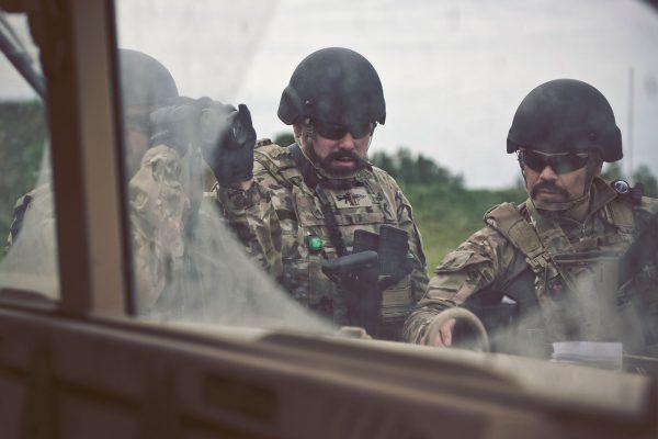 Soldiers Wearing LASA AC914 Ballistic Helmet