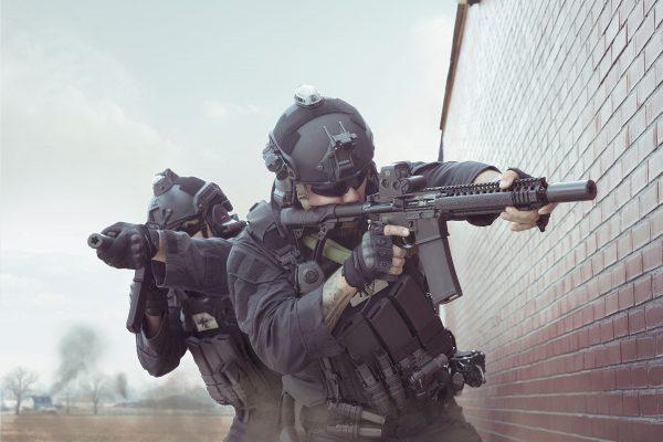 Soldiers Wearing LASA AC915 Ballistic Helmet